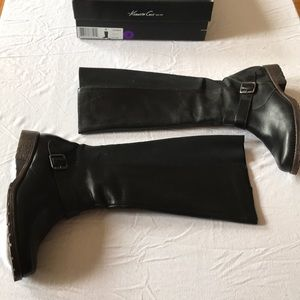 Kenneth Cole black riding boots 9